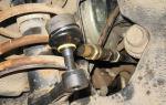 Как заменить рулевые наконечники и тяги своими руками