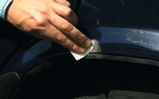 Локальный ремонт сколов и царапин на кузове автомобиля: как убрать своими руками