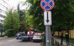 Знак запрещающий остановку: зона действия, фото